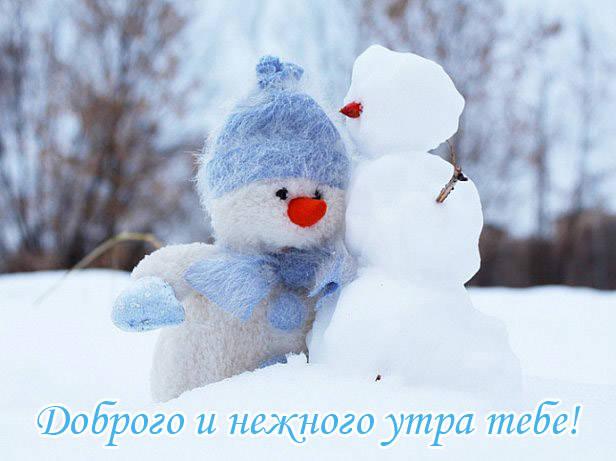 Самые красивые зимние картинки с Добрым утром