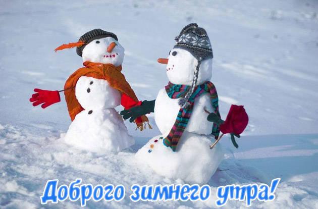 Доброе зимнее утро картинки прикольные