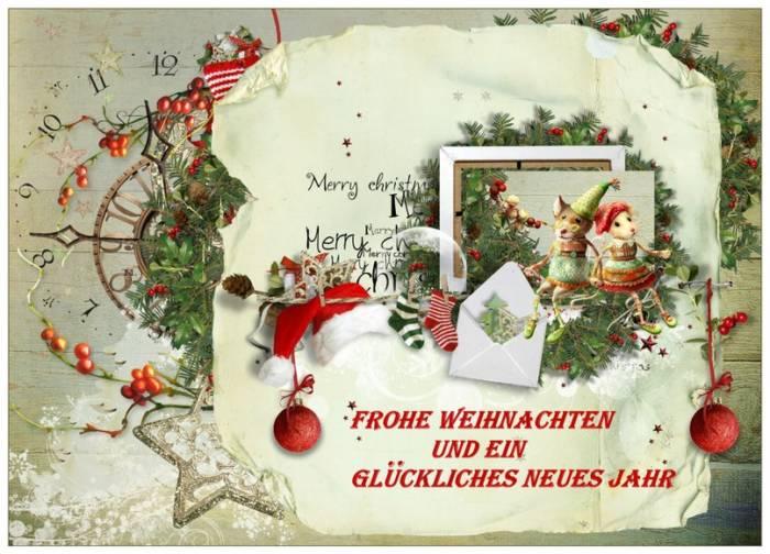 """Винтажные Открытки """"С Рождеством"""" на немецком языке"""