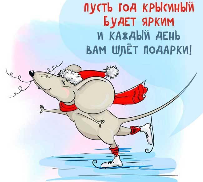 Прикольные поздравления с Новым годом Крысы