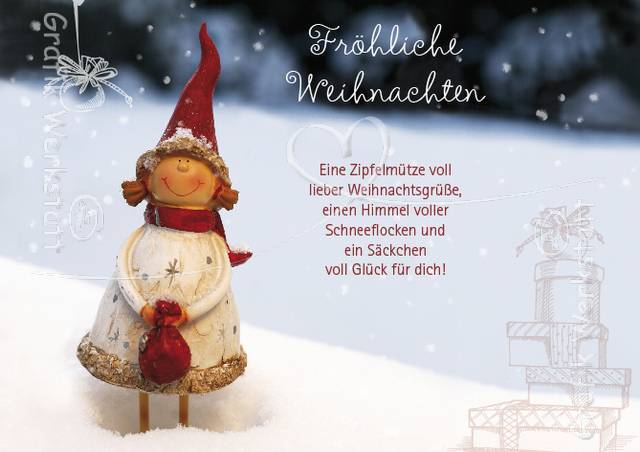 """Красивые Открытки """"С Рождеством"""" на немецком языке"""