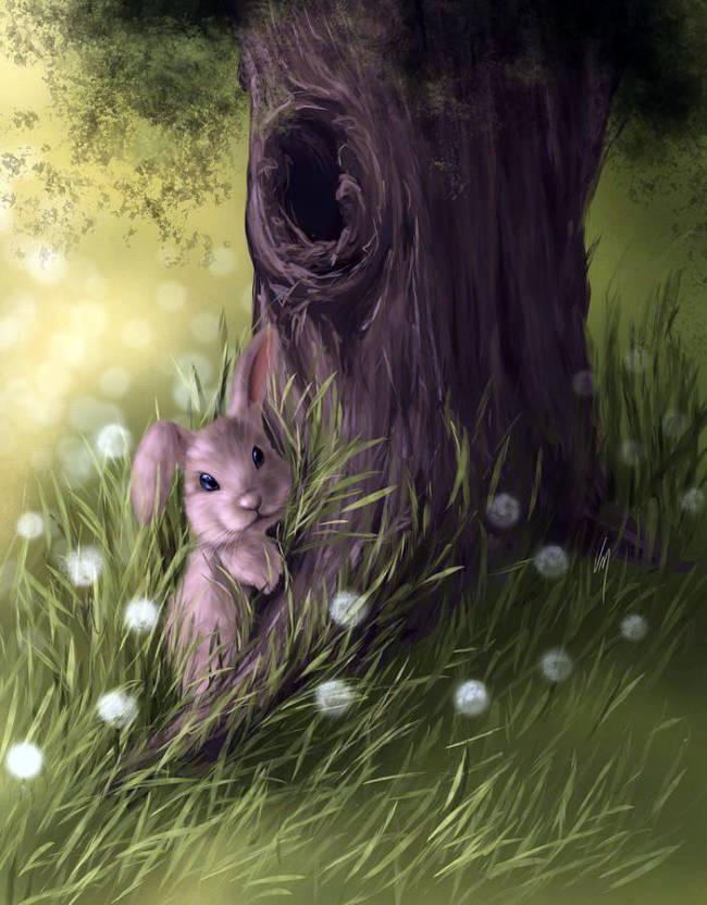 Милота - картинки с животными рисованные