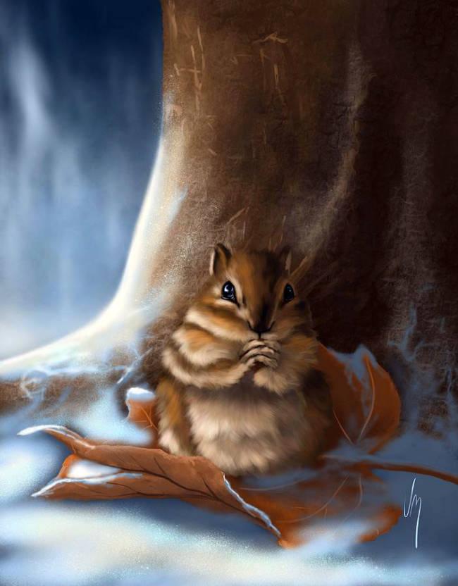 Милые картинки про животных нарисованные