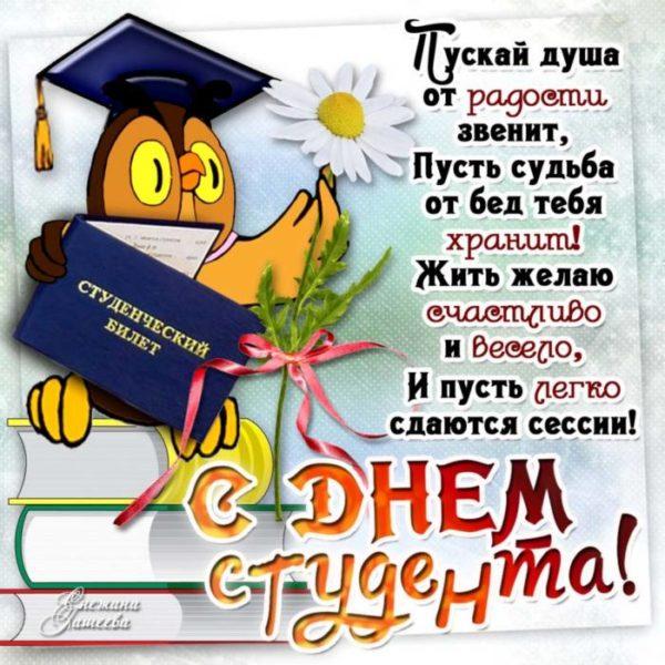 Прикольные картинки и открытки с Днем студента бесплатно