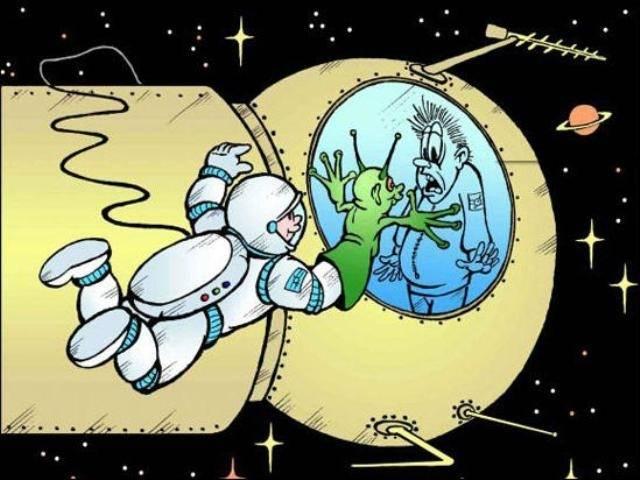 Очень смешные картинки  ко дню космонавтики (27 штук)