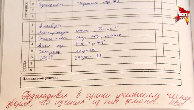 Смешные и прикольные записи из школьных дневников