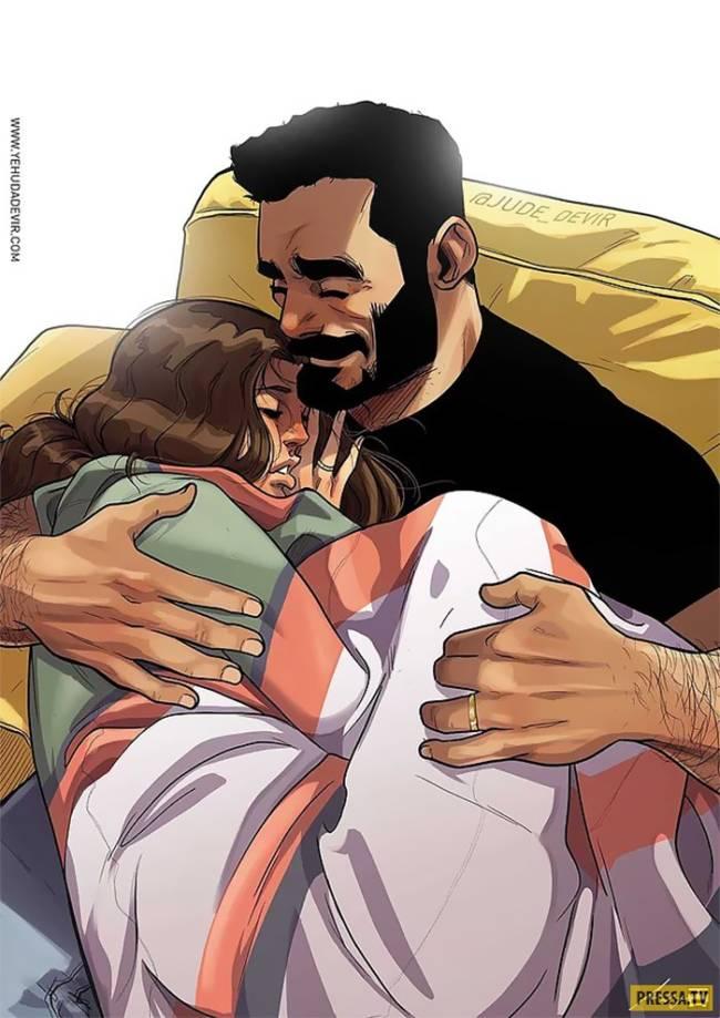 Потрясающие иллюстрации о жизни со своей женой-чудачкой (часть 3)