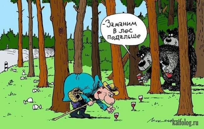 Анекдоты про лесных зверей смешные читать