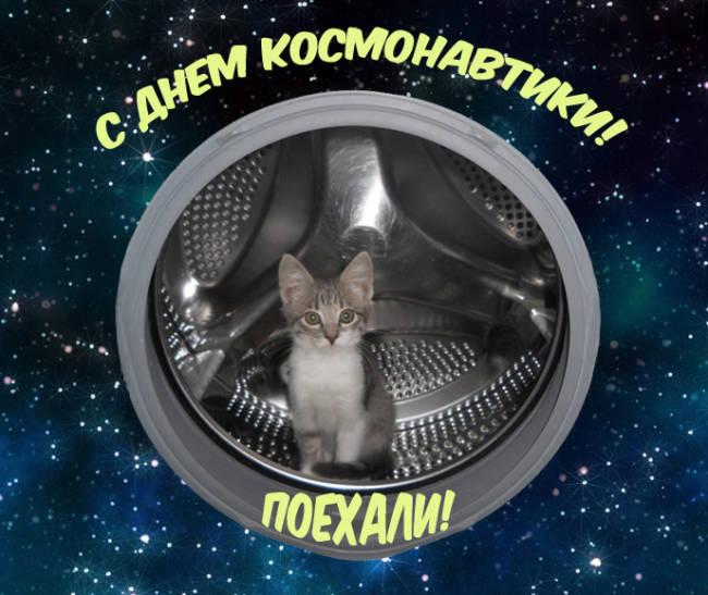 Самые прикольные поздравления с Днем космонавтики в картинках