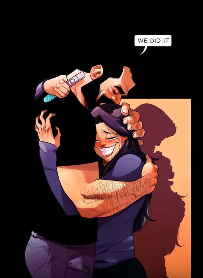 Потрясающие комиксы про любовь и жизнь с женой-чудачкой (Часть 4)