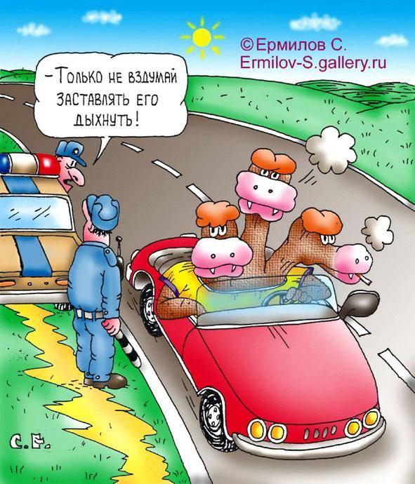 Прикольные анекдоты про ГИБДД и ГАИшников