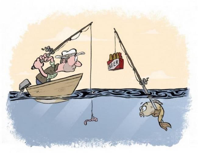 Прикольные и смешные картинки ко Дню рыбака про рыбалку
