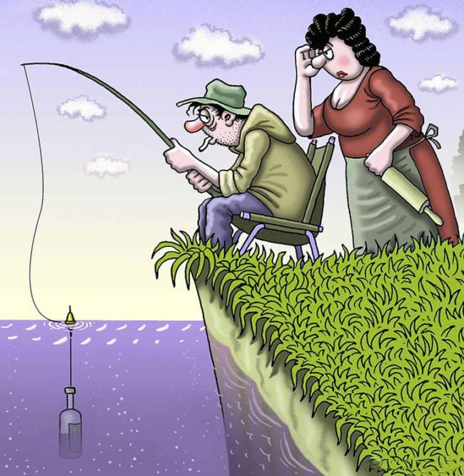 Самой, рыбаки картинки смешно