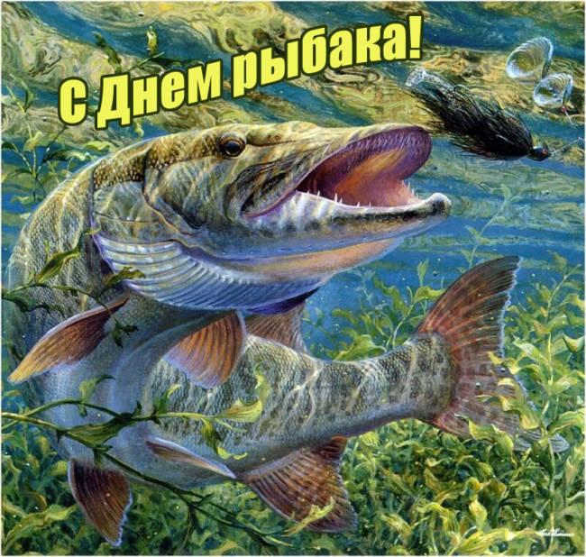 Красивые и прикольные картинки с Днем рыбака