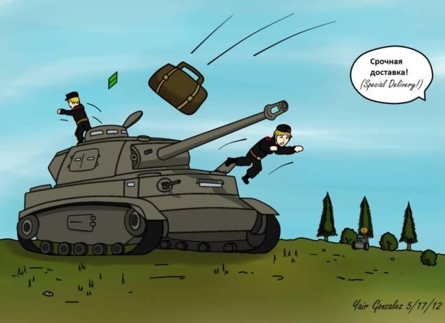 Рисунки, смешные картинка про танки