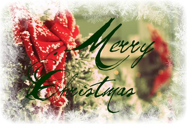 Открытка merry christmas скачать