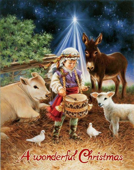 Католические открытки с Рождеством Христовым с ИИсусом