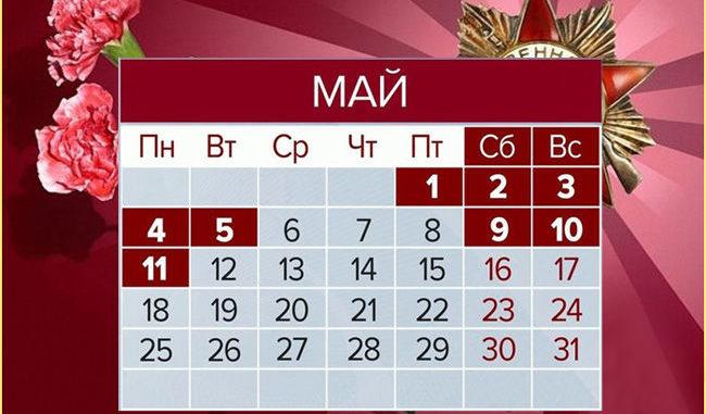 Как отдыхаем на майские праздники 2020 календарь