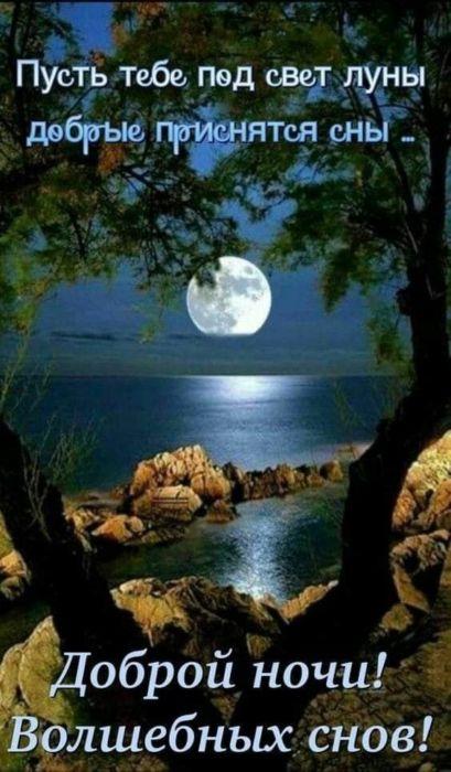 Пожелания спокойной ночи женщине