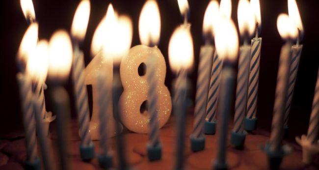 С днем рождения 18