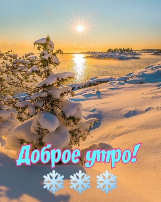 Хорошего зимнего утра картинки