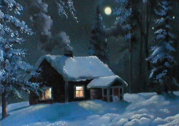 Зимняя ночь картинки