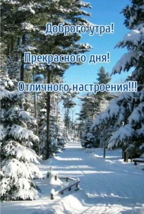 Зимнее утро картинки с надписями
