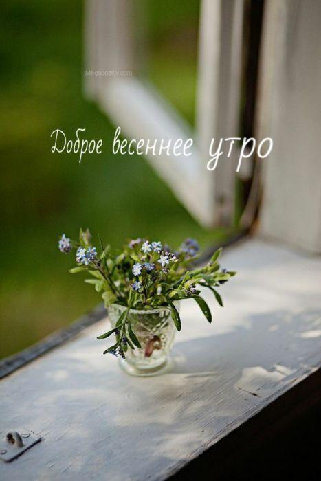 Доброе утро весна прикольные