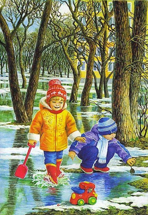 Весенние картинки для детей