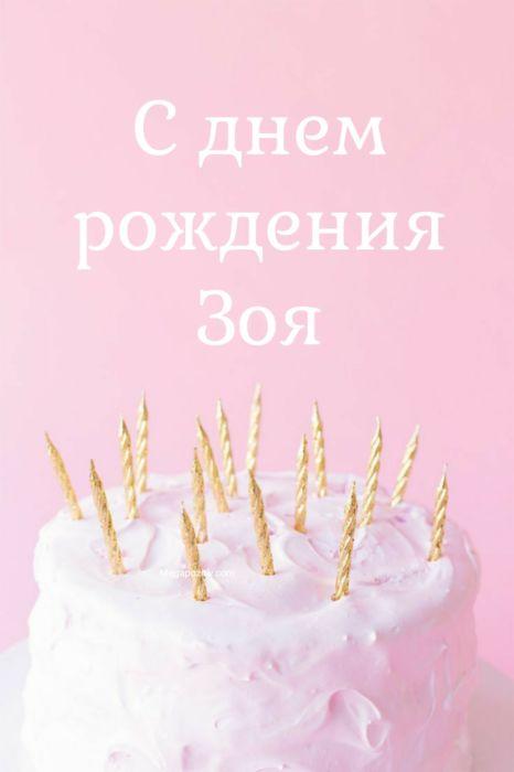 С днем рождения Зоя